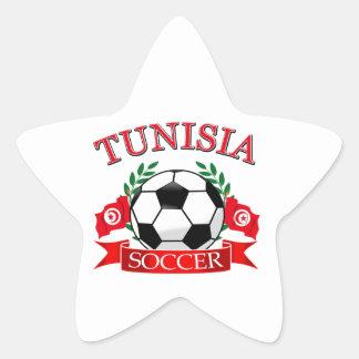 Tunisian Soccer Designs Star Stickers