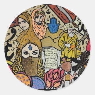 Tunisian World Round Sticker