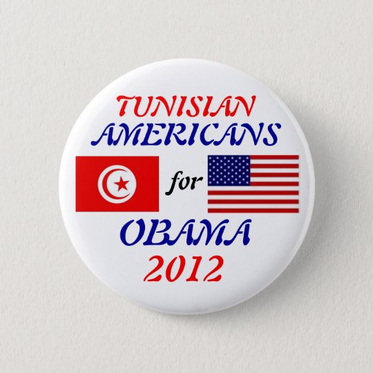 Tunisians Americans for Obama button