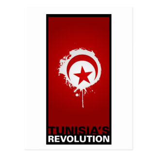 """Tunisia's Revolution"" Postcard"