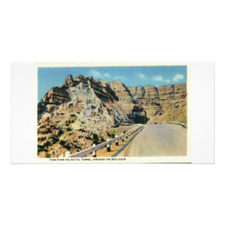 Tunnel, Badlands of South Dakota Personalized Photo Card