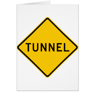 Tunnel Highway Sign Greeting Card