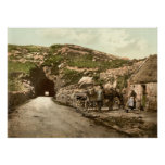 Tunnel near Glengariff, County Cork Poster