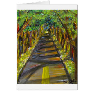 tunnel of trees greeting card