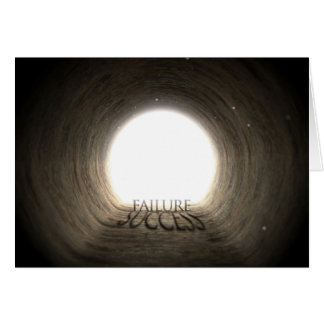Tunnel Text and Shadow Concept - Failure & Success Card
