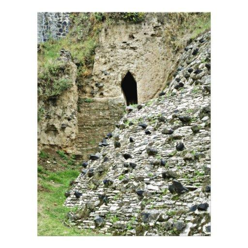 Tunnel To Pyramid Remains At Cholula Custom Flyer