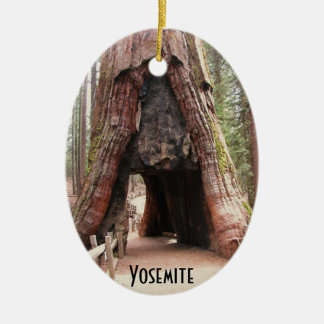 Tunnel Tree- Yosemite Christmas Ornament