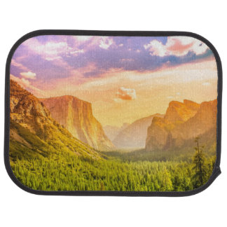 Tunnel View of Yosemite National Park Car Mat
