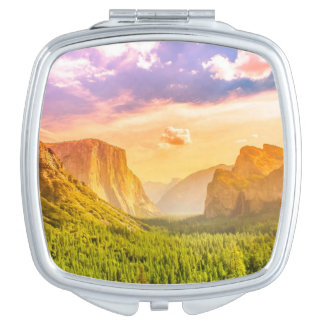 Tunnel View of Yosemite National Park Compact Mirror