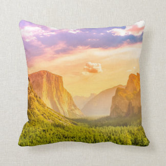 Tunnel View of Yosemite National Park Cushion