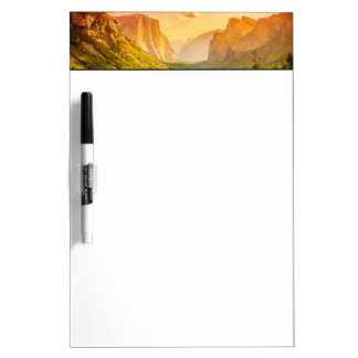 Tunnel View of Yosemite National Park Dry Erase Board