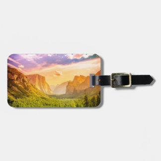 Tunnel View of Yosemite National Park Luggage Tag