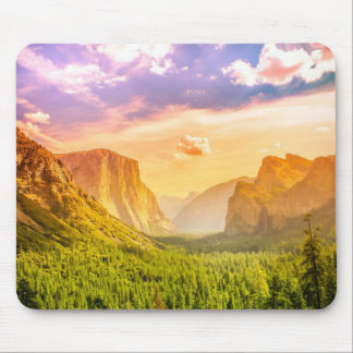 Tunnel View of Yosemite National Park Mouse Pad