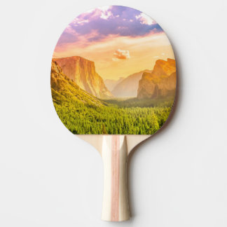 Tunnel View of Yosemite National Park Ping Pong Paddle