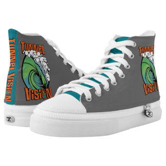 Tunnel Vision High Tops Printed Shoes