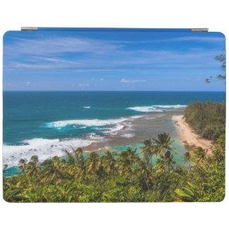 Tunnels Beach as seen from the Kalalau Trail iPad Cover