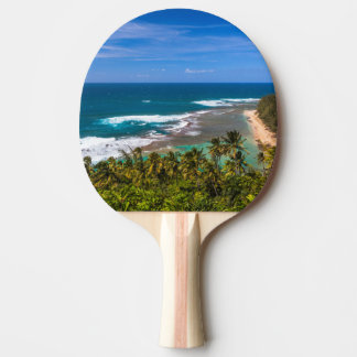 Tunnels Beach as seen from the Kalalau Trail Ping Pong Paddle