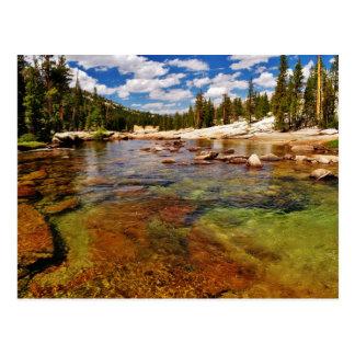Tuolumne River, Yosemite. Postcard