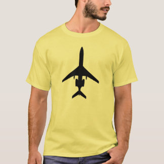 Tupolev Tu-154 silhouette aviation t-shirt dark