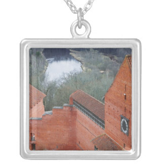 Turaida Castle by Gauja River, Sigulda, Latvia Silver Plated Necklace