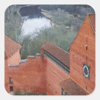 Turaida Castle by Gauja River, Sigulda, Latvia Square Sticker