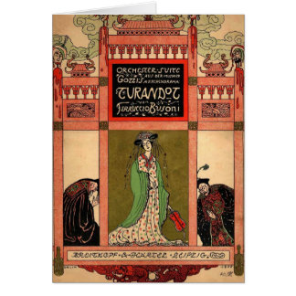 Turandot, a Puccini Opera Card