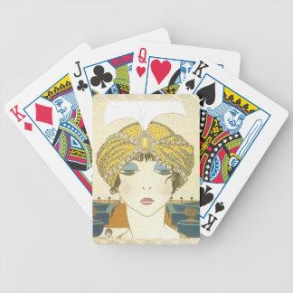 Turbaned Poiret 1900s Fashion Illustration Bicycle Poker Cards