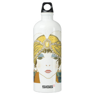 Turbaned Poiret 1900s Fashion Illustration SIGG Traveller 1.0L Water Bottle