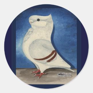 Turbit Pigeon 1979 Round Sticker