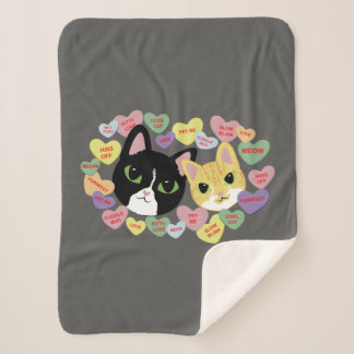 Turbo and Tilly Vday Sherpa Blanket