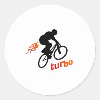 Turbo BMX Classic Round Sticker
