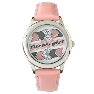 Turbo Girl Retro Pink Kids Fashion Watch