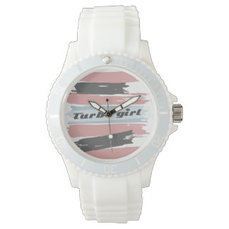 Turbo Girl Retro Women's White Fashion Watch