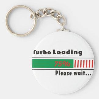 Turbo Loading Please wait Basic Round Button Key Ring