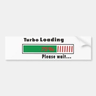 Turbo Loading Please wait Car Bumper Sticker