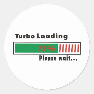 Turbo Loading Please wait Round Sticker