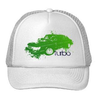turbo sedan splatter paint -lime hat