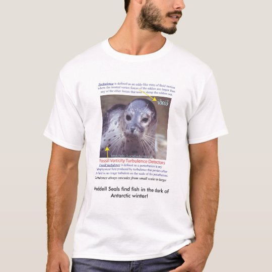 Turbulence_sealwhiskers, Weddell Seals find fis... T-Shirt