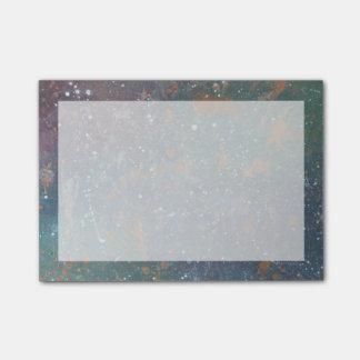 Turbulent Faded Worn Rainbow Splatter Abstract Post-it® Notes