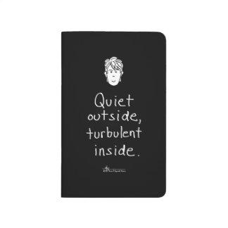 Turbulent Inside Black Pocket Journal