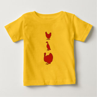 Turducken baby tee in red