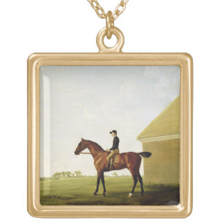 Turf, c.1765 (oil on canvas) (see 152743) gold plated necklace