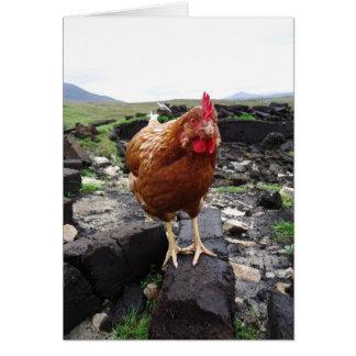 Turf chicken, Ireland Greeting Card