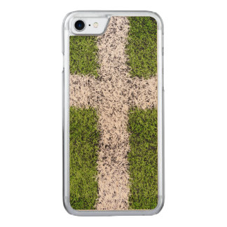 Turf cross carved iPhone 7 case