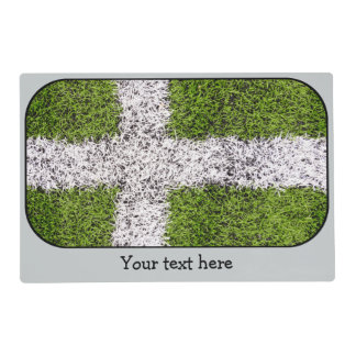 Turf cross laminated placemat