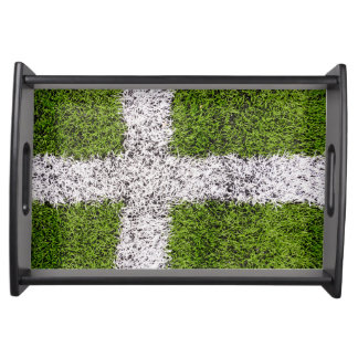 Turf cross serving trays