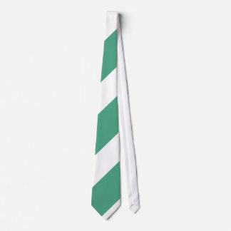Turf Green and White Tie
