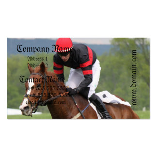 Turf Horse Race Business Card