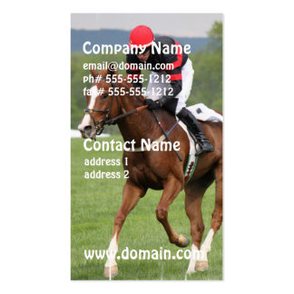 Turf Horse Race Business Cards