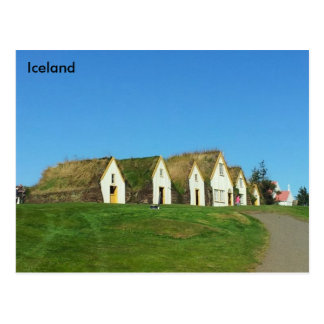 Turf houses in Glaumbær, Iceland Postcard